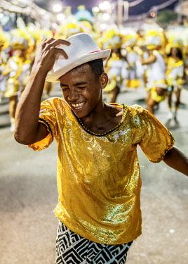 BRA3734AW Samba Dancer at the Carnival Parade in Rio de Janeiro, Brazil