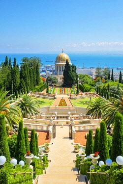 ISR0601AWRF Israel, Haifa District, Haifa. The Shrine of the Bab at the Baha'i Gardens.