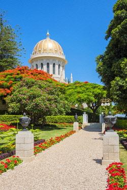 ISR0603AWRF Israel, Haifa District, Haifa. The Shrine of the Bab at the Baha'i Gardens.