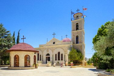 ISR0689AW Palestine, West Bank, Bethlehem Governorate, Beit Sahour. The Greek Orthodox Church (Deir Al Ra'wat) at Shepherd's Field.