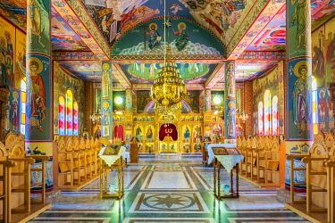 ISR0691AW Palestine, West Bank, Bethlehem Governorate, Beit Sahour. The Greek Orthodox Church (Deir Al Ra'wat) at Shepherd's Field.
