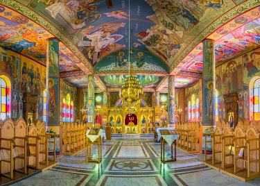 ISR0697AW Palestine, West Bank, Bethlehem Governorate, Beit Sahour. The Greek Orthodox Church (Deir Al Ra'wat) at Shepherd's Field.
