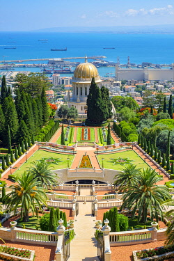 ISR0772AW Israel, Haifa District, Haifa. The Shrine of the Bab at the Baha'i Gardens.