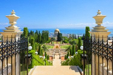 ISR0774AW Israel, Haifa District, Haifa. The Shrine of the Bab at the Baha'i Gardens.