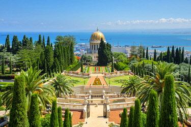 ISR0775AW Israel, Haifa District, Haifa. The Shrine of the Bab at the Baha'i Gardens.