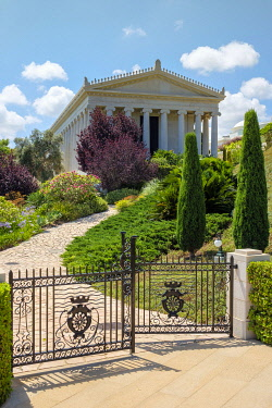 ISR0776AW Israel, Haifa District, Haifa. The International Baha'i Archives building at Baha'i Gardens.