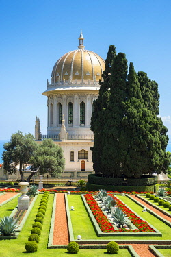 ISR0778AW Israel, Haifa District, Haifa. The Shrine of the Bab at the Baha'i Gardens.