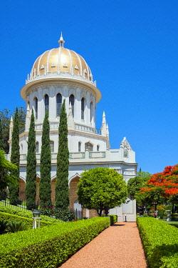 ISR0780AW Israel, Haifa District, Haifa. The Shrine of the Bab at the Baha'i Gardens.