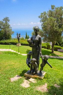 ISR0781AW Israel, Haifa District, Haifa. Ursula Malbin Sculpture Garden.