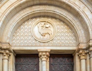 ISR0870AW Israel, Jerusalem District, Jerusalem. Facade of the Lutheran Church of the Redeemer.
