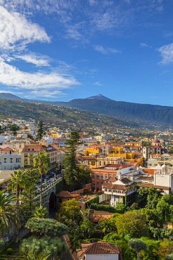 ES09416 View over La Orotava towards Mount Teide, Tenerife, Canary Islands, Spain