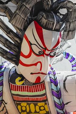 TPX67943 Japan, Honshu, Tokyo, Asakusa, Nabuta Festival, Float depicting Giant Kabuki Actor