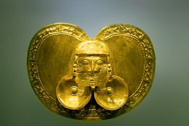 COL0846AW South America, Colombia, Bogota, Gold museum, pre-Columbian gold art