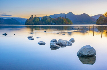 UK733RF UK, Cumbria, Lake District, Keswick, Derwentwater, Derwent Isle