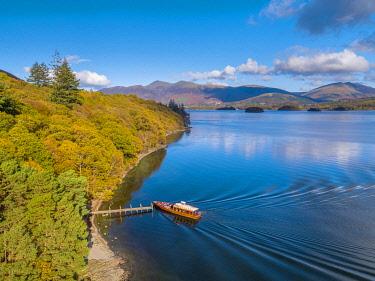 UK734RF UK, Cumbria, Lake District, Keswick, Brandlehow Jetty and ferry