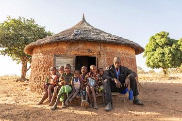BNN0407AW Africa, Benin, Kouaba. Fulani village