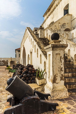 GHA0145AW Africa, Ghana, Cape Coast castle. The old english slave castle