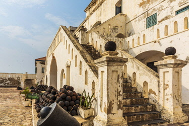 GHA0146AW Africa, Ghana, Cape Coast castle. The old english slave castle