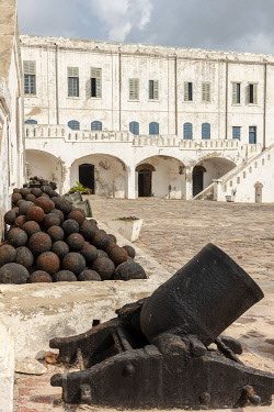 GHA0150AW Africa, Ghana, Cape Coast castle. The old english slave castle