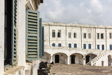 GHA0153AW Africa, Ghana, Cape Coast castle. The old english slave castle