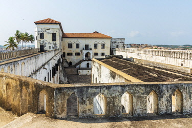 GHA0162AW Africa, Ghana, Elmina Castle was erected by the Portuguese in 1482 as São Jorge da Mina Castle, also known simply as Mina in present-day Elmina, Ghana. It was the first trading post built on the Gulf...