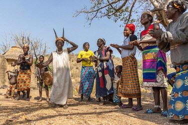 TOG0038AW Africa, Togo. Koutammakou, Tamberma people. Unesco World Heritage site.