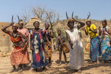 TOG0040AW Africa, Togo. Koutammakou, Tamberma people. Unesco World Heritage site.