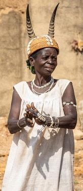 TOG0042AW Africa, Togo. Koutammakou, Tamberma people. Unesco World Heritage site.