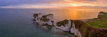 UK08469 UK, England, Dorset, Isle of Purbeck, Swanage, Jurassic Coast, The Foreland or Handfast Point, Old Harry Rocks