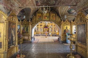 RU01502 Cathedral church interior, Palekh, Ivanovo region, Russia