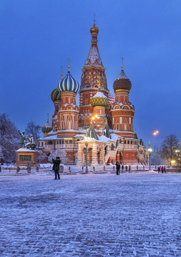 RU01465 St. Basil's cathedral, Red square, Moscow, Russia