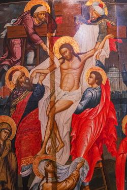 RU01501 Descent from the Cross icon, Palekh, Ivanovo region, Russia