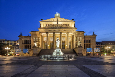 GER11687 The Konzerthaus Berlin is a concert hall situated on the Gendarmenmarkt square in the central Mitte district of Berlin housing the German orchestra Konzerthausorchester Berlin. It was built as a theat...