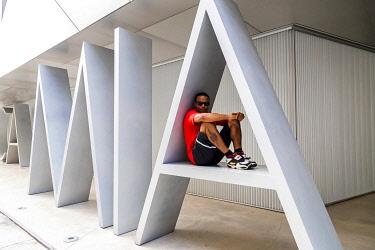 USA14330AW USA, Florida, Miami, Design Center District, exterior of the Institute of Contemporary Design Museum.