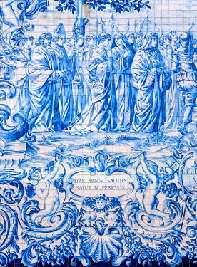 POR10389AW Azulejos at Carmo Church, Porto, Portugal