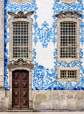 POR10390AW Azulejos at Carmo Church, Porto, Portugal
