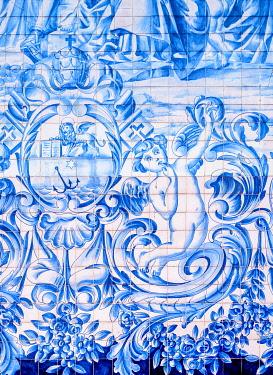 POR10391AW Azulejos at Carmo Church, Porto, Portugal