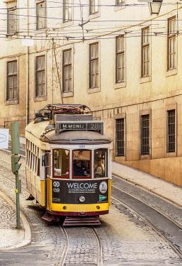 POR10429AW Tram number 28, Lisbon, Portugal