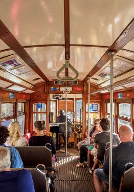 POR10430AW Tram number 28, interior, Lisbon, Portugal