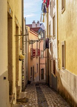 POR10431AW Narrow Lane of Alfama, Lisbon, Portugal