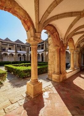 POR10496AW Cloister of Monastery of Nossa Senhora da Assuncao, Faro, Algarve, Portugal