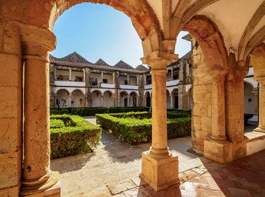 POR10497AW Cloister of Monastery of Nossa Senhora da Assuncao, Faro, Algarve, Portugal