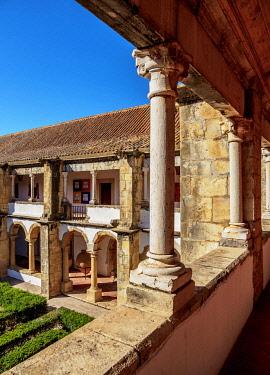 POR10499AW Cloister of Monastery of Nossa Senhora da Assuncao, Faro, Algarve, Portugal