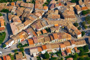 IBLHWE03723854 Aerial view of Puimoisson, Puimoisson, Département Alpes-de-Haute-Provence, Region Provence-Alpes-Côte d'Azur, France, Europe