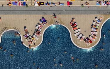 IBLBLO03731850 Annen open-air swimming pool, aerial view, Annen, Witten, North Rhine-Westphalia, Germany, Europe