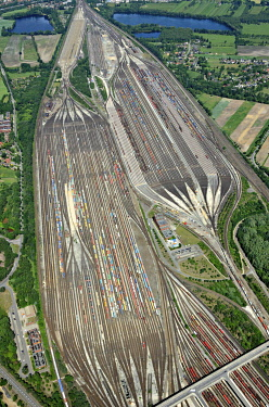 IBLHWE03740683 Aerial view, Maschen Marshalling Yard, Maschen, Lower Saxony, Germany, Europe