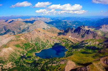IBLHWE03766999 Lac d'Allos mountain lake, Barcelonnette, Département Alpes-de-Haute-Provence, Region Provence-Alpes-Côte d'Azur, France, Europe