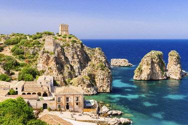 IBXJUN04287867 Tonnara di Scopello, Scopello, Castellammare del Golfo, Province of Trapani, Sicily, Italy, Europe