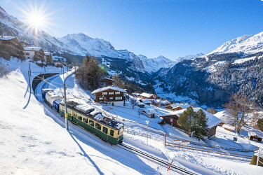 SWI8271AW Wengen and Lauterbrunnen valley, Berner Oberland, canton of Bern, Switzerland