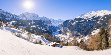 SWI8300AW Wengen and Lauterbrunnen valley, Berner Oberland, canton of Bern, Switzerland